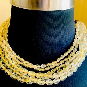 Miriam Haskell Vintage Multi-Strand Necklace